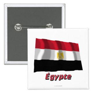 Français de Drapeau Égypte avec le nom en Pin's Avec Agrafe