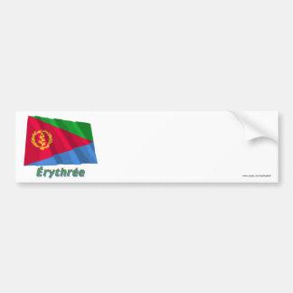 Français de Drapeau Érythrée avec le nom en Adhésifs Pour Voiture