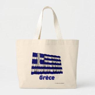 Français de Drapeau Grèce avec le nom en Sacs En Toile