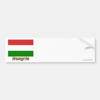 Français de Drapeau Hongrie avec le nom en Adhésifs Pour Voiture