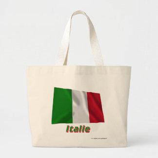 Français de Drapeau Italie avec le nom en Sacs Fourre-tout