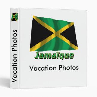 Français de Drapeau Jamaïque avec le nom en