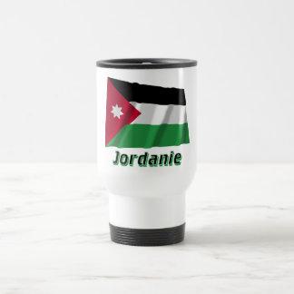 Français de Drapeau Jordanie avec le nom en Tasse À Café