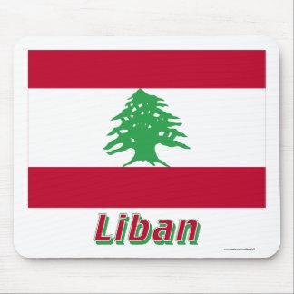 Français de Drapeau Liban avec le nom en Tapis De Souris