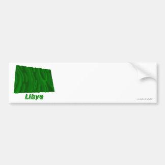 Français de Drapeau Libye avec le nom en Adhésif Pour Voiture