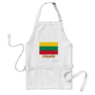 Français de Drapeau Lituanie avec le nom en Tabliers