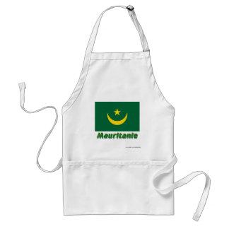 Français de Drapeau Mauritanie avec le nom en Tablier