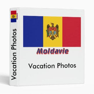 Français de Drapeau Moldavie avec le nom en Classeur 2,54 Cm