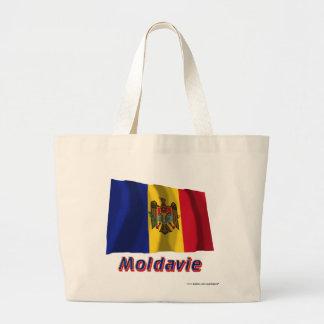 Français de Drapeau Moldavie avec le nom en Sac Fourre-tout