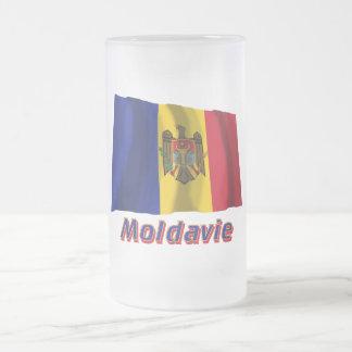 Français de Drapeau Moldavie avec le nom en Mug À Café