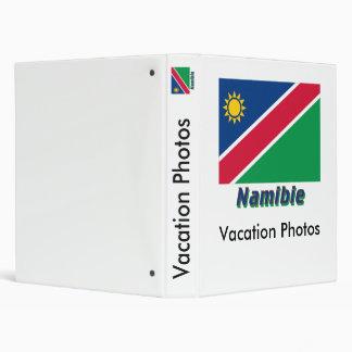 Français de Drapeau Namibie avec le nom en