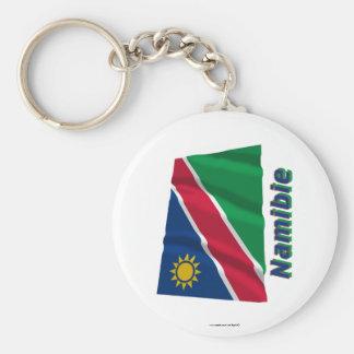 Français de Drapeau Namibie avec le nom en Porte-clef