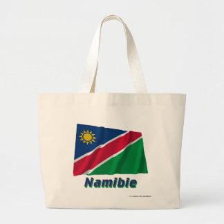 Français de Drapeau Namibie avec le nom en Sac