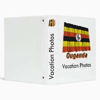 Français de Drapeau Ouganda avec le nom en