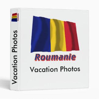 Français de Drapeau Roumanie avec le nom en