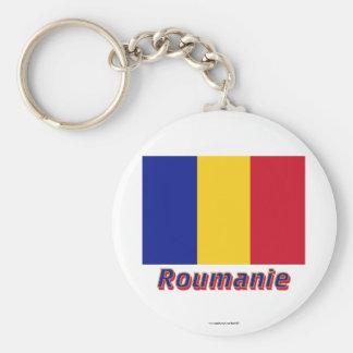Français de Drapeau Roumanie avec le nom en Porte-clé