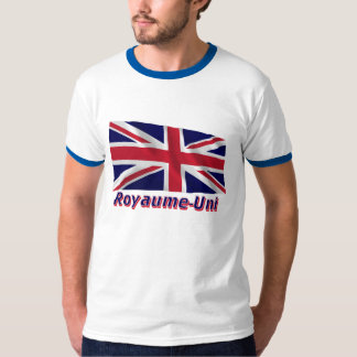 Français de Drapeau Royaume-Uni avec le nom en T-shirt