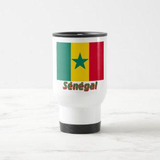 Français de Drapeau Sénégal avec le nom en Tasse À Café