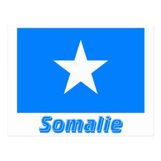 Français de Drapeau Somalie avec le nom en Cartes Postales