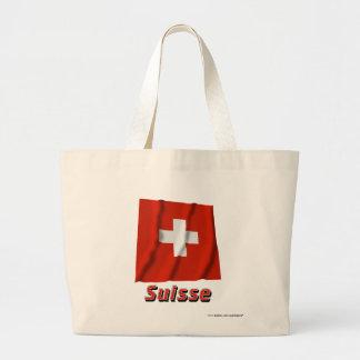 Français de Drapeau Suisse avec le nom en Sac