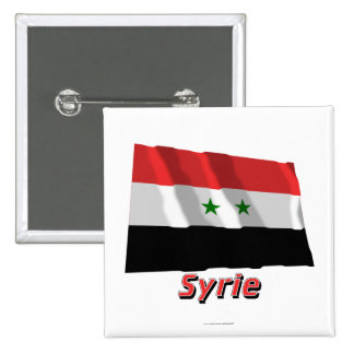 Français de Drapeau Syrie avec le nom en Badge Avec Épingle