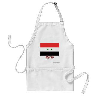 Français de Drapeau Syrie avec le nom en Tablier