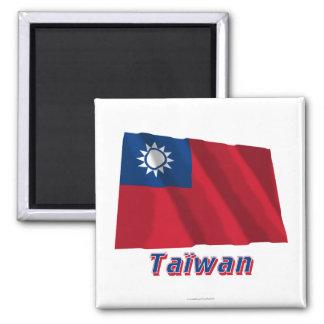 Français de Drapeau Taïwan avec le nom en Aimant