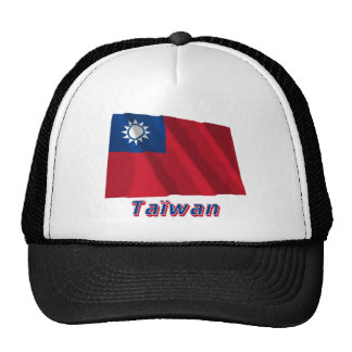 Français de Drapeau Taïwan avec le nom en Casquette De Camionneur