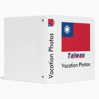 Français de Drapeau Taïwan avec le nom en Classeur 2,54 Cm