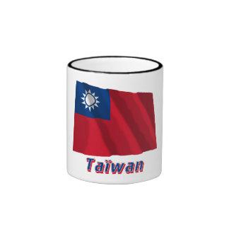 Français de Drapeau Taïwan avec le nom en Tasse