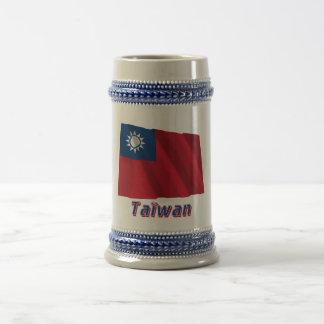 Français de Drapeau Taïwan avec le nom en Tasses À Café