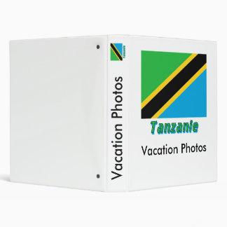 Français de Drapeau Tanzanie avec le nom en