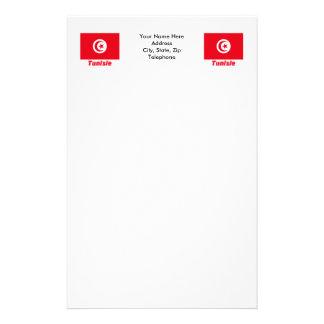 Français de Drapeau Tunisie avec le nom en Papier À Lettre Customisé