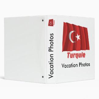 Français de Drapeau Turquie avec le nom en