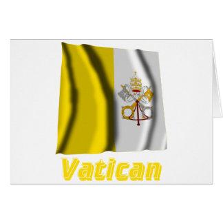 Français de Drapeau Vatican avec le nom en Carte De Vœux