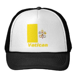 Français de Drapeau Vatican avec le nom en Casquette