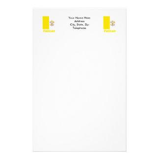 Français de Drapeau Vatican avec le nom en Papier À Lettre Customisable
