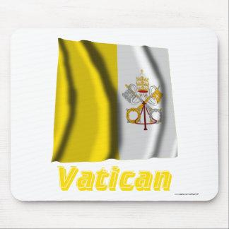 Français de Drapeau Vatican avec le nom en Tapis De Souris
