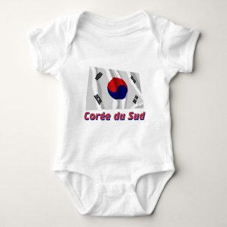 Français de le nom en d'avec de Drapeau Corée du T-shirt