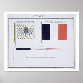 Français diminue, d'un livre français des drapeaux
