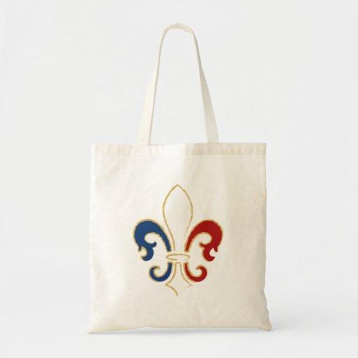 Français Flag Fleur de Lis avec de l'or Sacs