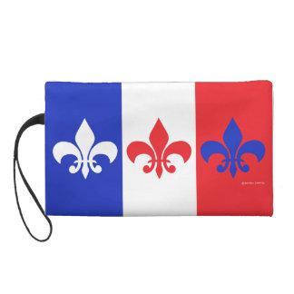 Français Flag Fleur de Lis Wristlet Sacs À Main Avec Dragonne