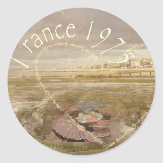 France 1975.jpg classic round sticker