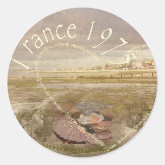 France 1975.jpg round sticker