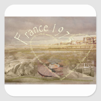 France 1975.jpg square sticker