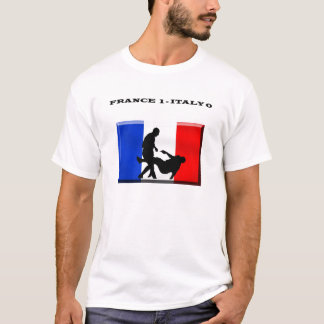 France 1 italy 0 French Soccer T-Shirt