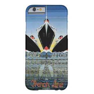 France Afloat - French Line Poster iPhone 6 Case