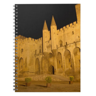 France, Avignon, Provence, Papal Palace at night Notebooks