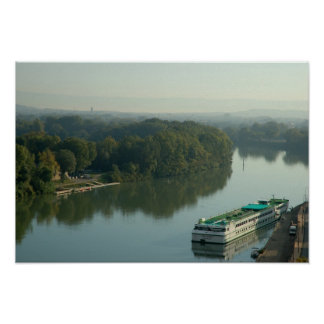 France, Avignon, Provence, Van Gogh riverboat Poster