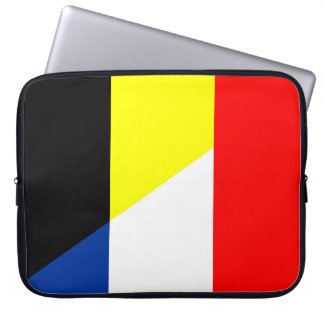 france belgium flag country symbol flag laptop sleeve